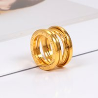 3 Colors Women Designer Ring Top Quality Luxurious Styles Roman Numeral Hollow Couple Rings Titanium Steel Design B Letter Fashion Jewelry Wholesale