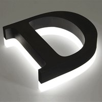 Single Hexe Channel Letter Metall Sus Acryl Signage Backlit Kanal Buchstabe Black Paint Metal Buchstaben mit Lichtern