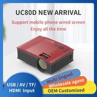 UCIC UC80D Mini LED Projetor Full HD 1080P Frigideira Telefone Espelhamento Keystone Correção para celular Multimedia Home Cinema