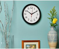 Home decoration wall clock modern design black silent no ticking -10 inches (approximately 25.4 cm) home, classroom, office