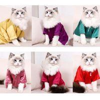 Kattdräkter Japan stil nylon husdjur kläder andningsbar mjuk lyxjacka för små hundar kappa japanska kimono sommar höst