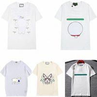 Mujeres para hombre Diseñador T Shirts Tshirts Carta de moda Impresión de manga corta Manga corta Dama Tees Ropa casual 21ss T-shirts Ropa 02