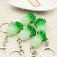 مصمم مفتاح سلسلة حزب الإبداعية شخصية محاكاة المنتجات الغذائية الخضروات الكرنب الصينية سلسلة المفاتيح قلادة الهدايا