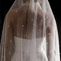 Жемчужина белая слоновая слоновая свадебная вуаль с гребенью однослойное собор Свадебная вуаль с жемчугом Velos de Nooiva Crystal Bears 3Meters