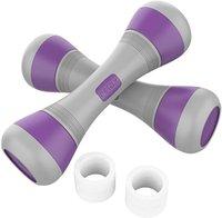 Kadınlar için ayarlanabilir dumbbells set 2 adet taşınabilir kauçuk fitness ekipmanları ağırlık egzersiz spor salonunda 2.2-4.4 lbs