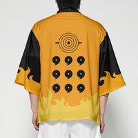 Anime Kimono Japanese Cardigan Men T Shirt Samurai Costume Streetwear 3D Batwing Sleeve Tshirt Funny Haori Yukata Male Man Woman Ethnic Clot