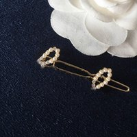 L-C04 Barrettes Hair Clip Luxury Designer hairpin letter pearl inlaid diamond Brooch