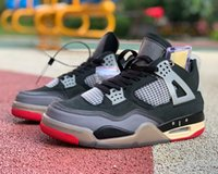 Kaliteli Jumpman 4 Basketbol Ayakkabı 4 S Topsportsmarket Krem Yelken Muslin Siyah Kırmızı Erkekler Açık Sneakers Kutusu