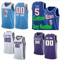 Screen Printed Custom Marvin 35 Bagley III De'Aaron 5 Fox Buddy Hield Bogdan Bogdanovic 1 Trevor Ariza Basketball Jerseys