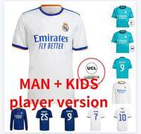 Erkekler Çocuklar Çorap Gerçek Madrid Futbol Forması 20 21 22 Tehlike Modrit Reiniating Camiseta 2020 2021 Balya Isco Gençlik Formaları Rodrygo Futbol Gömlek