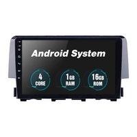 2016-Honda Civic 용 헤드 유닛 자동차 DVD 스테레오 플레이어 Rearview Camera OBD II 9 인치 Android