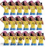 Summer Womens Designers short sleeve T shirt Simple Tee Women Cartoon Printed Sports Casual Tee Tops Boutique Outfit Sweat Shirt S-XL