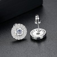 Stud Fashion Love Summer Earrings Copper Inlaid 3A Zircon Simple Creative Round Ladies Gift Party Jewelry