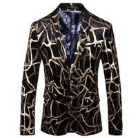 Trajes para hombres Blazers Digital Stamping British Fashion Stage Rendimiento Ropa estilo Cata Ternos Masculino Luxo Ropa