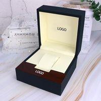 Boîte de montre en cuir Casket Stockage Montre Oreiller Organisateur Square Affichage Boîte Paquet Simple Cabinet Case Bijoux Cadeau de luxe