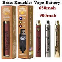 3 Colors Brass Knuckles Cartridges Preheat Battery 650mAh 900mAh BK Adjustable Voltage Rechargeable 510 Thread Batteries Thick Oil Cartridge with USB Charger