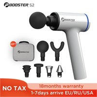 Booster S2 Elektrische Massagepistole Schmerztherapie Körpermassagegerät Handheld Muskelstimulation Entspannung mit Metallköpfen für Fitness 210309