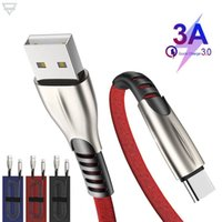 1M Zinc Alloy Type-c Cable 3A Fast Charging Charger Micro USB Supporting data sync transmission for samsung note 20 s20 cell phone