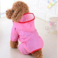 Dog Apparel 2021 Pet Raincoat Waterproof Clothes Jumpsuit Small Dogs Outdoor Breathable Hoody Puppy Jacket Raincoats