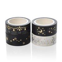 Gift Wrap 1PC Kerstdecoratie Papieren Tape Bronzing Zilver Patroon Dagboek Handrekening Label Japans Sticky DIY Washi 8D