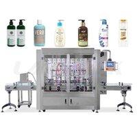 Líquido automático de alta velocidade e eficiência servo motor / creme / shampoo / água / garrafa de vara Máquina de enchimento multihead