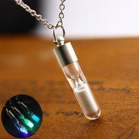 Creative Glowinthe The Dark Ожерелье Quicksand Желающие Бутылки Дамы Светящиеся Ювелирные Изделия Песочные Освещения Сообщение Бутылка Подвесное Ожерелье