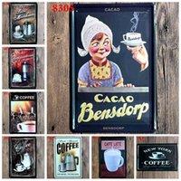 Coffee Metal Plate Vintage Tin Sign Iron Painting Bar Art Cafe Restaurant Home Shop Decor 20X30CM I-8