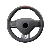Steering Wheel Covers 15 Inches Hand Sewing Soft Artificial Leather Braid With Needle And Thread Car For Twingo