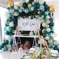 Party Decoration Dark Green Outdoor Forest Animal-Themed Balloons Arch Set Dinner Jungle Children's Birthday Layout 167Pcs