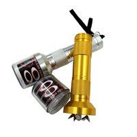 Electric Torch Flashlight Shape Grinder Crusher Crank Leaf Tobacco Smoke Man Gift Pepper Pot Spice Herb Muller Machine Herb Grinder LLE7499