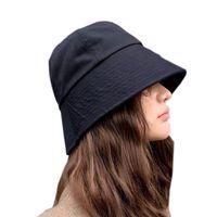 Cappelli da donna retrò con cappelli in stile Giappone e Korea Street Style Pescatore Berretto da pescatore Summer Big Visor Sun Hat Cappello nero Berretto Berretto nero