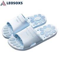 Lesoxs 2021 novos sapatos de verão mulheres chinelos moda moda homens mulheres casal casal chinelos home antiderrapante massagem penas l174