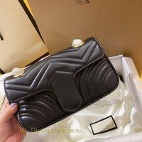 الأزياء سلسلة 446744 Marmont النساء المصممين المصممين حقائب حقائب جلدية حقيقية تويست مستحضرات التجميل رسول التسوق الكتف حقيبة اليد