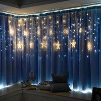 أضواء الجنية عيد الميلاد ميزة الصمام سلسلة أضواء ستار جارلاند على نافذة ستارة الديكور شجرة داخلي هالوين ضوء الزفاف