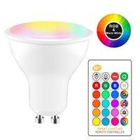 RGBW LED Ampoule 8W RVB GU10 Changement de couleur Changement d'atmosphère d'éclairage de lampe LED lampe flash Strobe FACE MODE BAR KTV Lumières décoratives