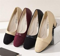 Dress Shoes High Heels Women Pumps Thick Heeled Ladies Comfortable Working