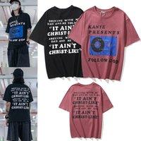 Kanye Men T-shirt mujeres de manga corta de alta calidad de alta calidad de verano, letra de letra de estilo hip hop de ropa con caja de etiquetas