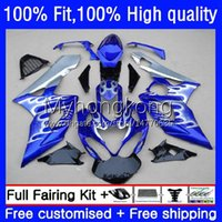 Body Injection Mold OEM voor Suzuki 1000cc GSX-R1000 2005-2006 Moto Carrosserie 26NO.113 GSXR 1000 CC K5 GSXR1000 2005 2006 GSXR-1000 05 06 100% Fit Fairing Silver Blue