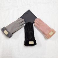 2021 New Brand Design Faux Fur Style Guanto Guanto per Le Donne Inverno Outdoor Caldo Five Five Fingers Guanti in pelle artificiale All'ingrosso 31