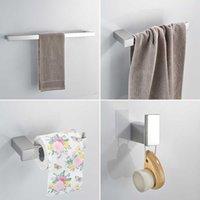 Tenedor de papel Accesorios de baño de estilo euro Accesorios de acero inoxidable Conjunto de hardware de acero inoxidable Cuarto de baño Anillo de toalla de toalla WF-610000 SH190919