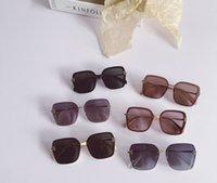 2021 летние дети поляризационные солнцезащитные очки Ins мальчики девочек большие квадратные рамки градиент солнцезащитные очки анти ультрафиолетовые дети пляжный праздник солнцезащитные очки A6124