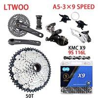 Bike Derailleurs LTWOO 3×9 Speed Bicycle Groupset MTB Cassette Shifter Rear Derailleur Mountain 3X9 Single Crankset KMC Chain Group Set