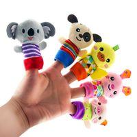 5 stks Cartoon Animal Finger Puppets Zachte Fluwelen Poppen Props Toys Pasen Mand Duffers voor Kinderen Peuters Educatief Story Time Games