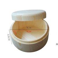 작은 둥근 나무 저장 상자 수제 쥬얼리 주최자 비누 공예품 케이스 빈티지 장식 자연 공예 보석 상자 hwe8053