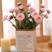 Fleurs décoratives couronnes artificielles 3 fleur tête sauvage chrysanthemum home fête fête jardin festival arrière décoration faux mariage pogra