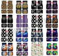 Özelleştirilmiş Neopren Araba Ayak Mat Ayçiçeği Tie-Boya Leopar Baskı Araba Paspaslar Set Kaymaz Araba Pedleri Halı Dekorasyon Aksesuarları