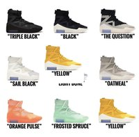 2021 FOG Boots Fear Of God Shoes Sail Light Bone Grey Triple Black Frosted Spruce Orange Pulse Atmosphere Yellow Men Outdoor Sneakers Trainers With box
