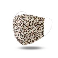 Mascarillas de la cara colgante Leopardo imprimido Oreja Moda Respirador Reutilizable Paño Mascarillas Cara de Leopardo Lavable Cubierta Boca de Leopardo Outdoor Sombrilla CCA12428