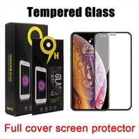 غطاء كامل الزجاج المقسى 9h حامي الشاشة لفون 12 برو ماكس LG ستايلو 7 K53 موتو G30 G10 E61 سامسونج A02S A32