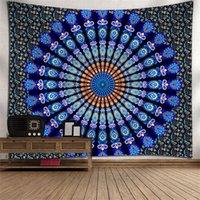 Mandala Tapestry Bunte Böhmische Tapisserie Wand Hängen für Schlafzimmer 130x150cm Polyester Yoga Mats Dekoration 18 Muster GWD8009